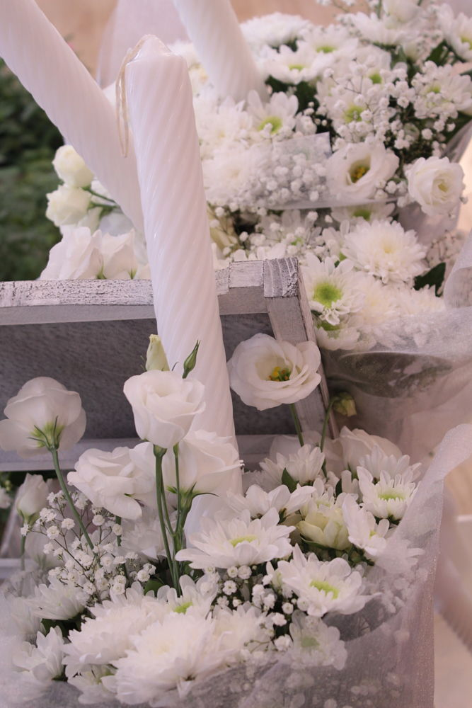 Velas decoradas con flores