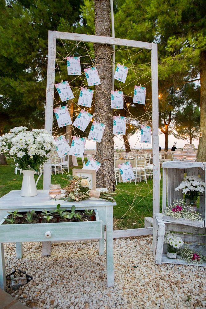 Seating con marco de bodas