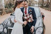 Ramo de novia con algodón