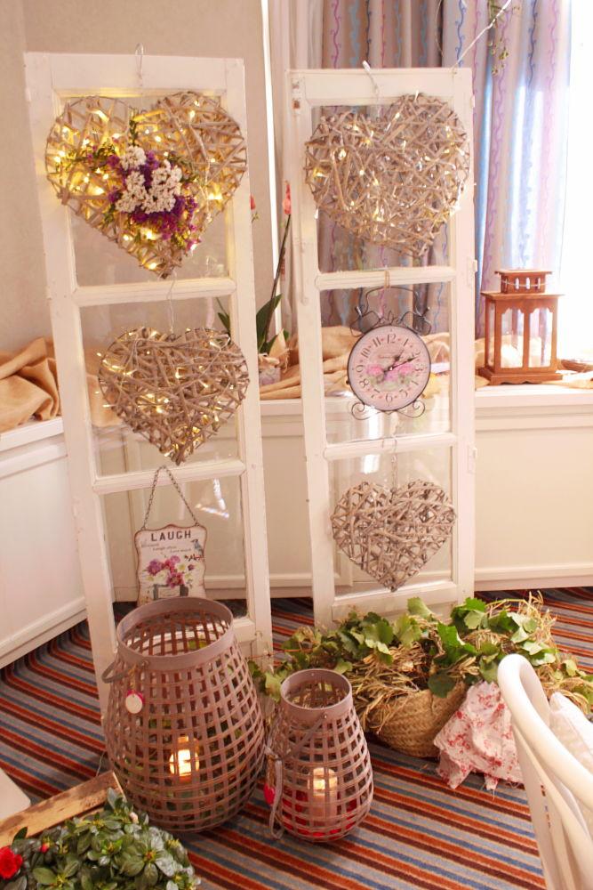 Decoración con ventanas para bodas