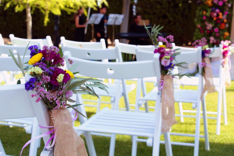 Decoración de sillas bodas