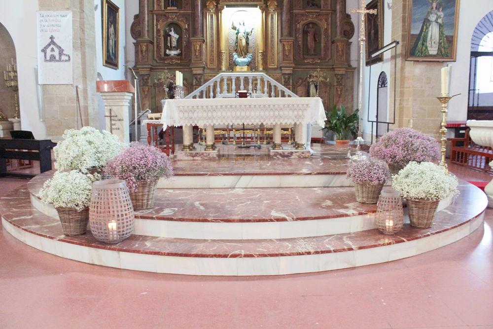 Decoración de boda paniculata