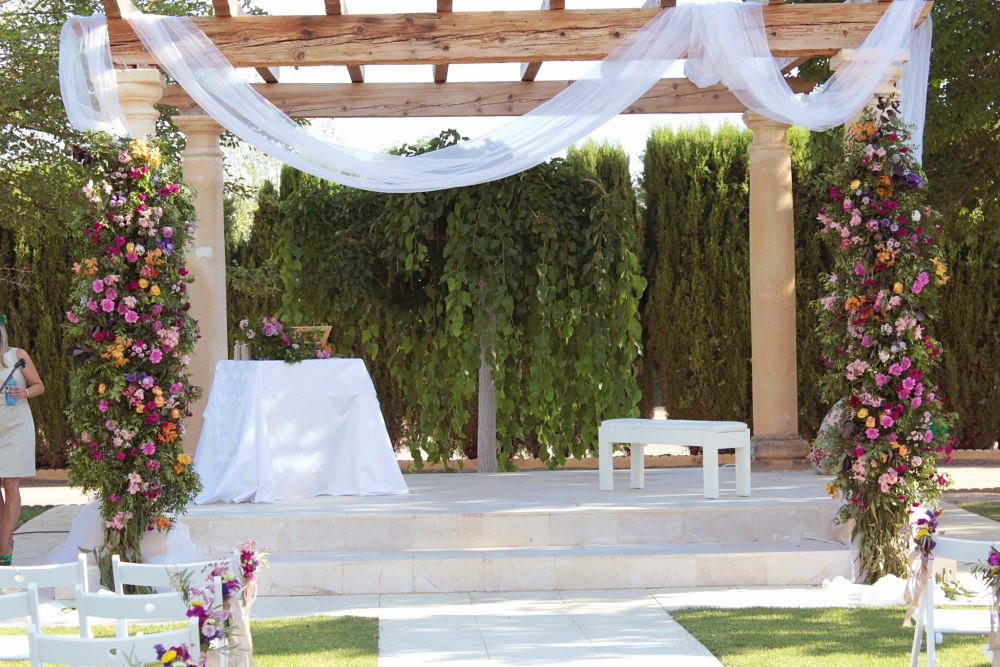 Arco de flores para boda
