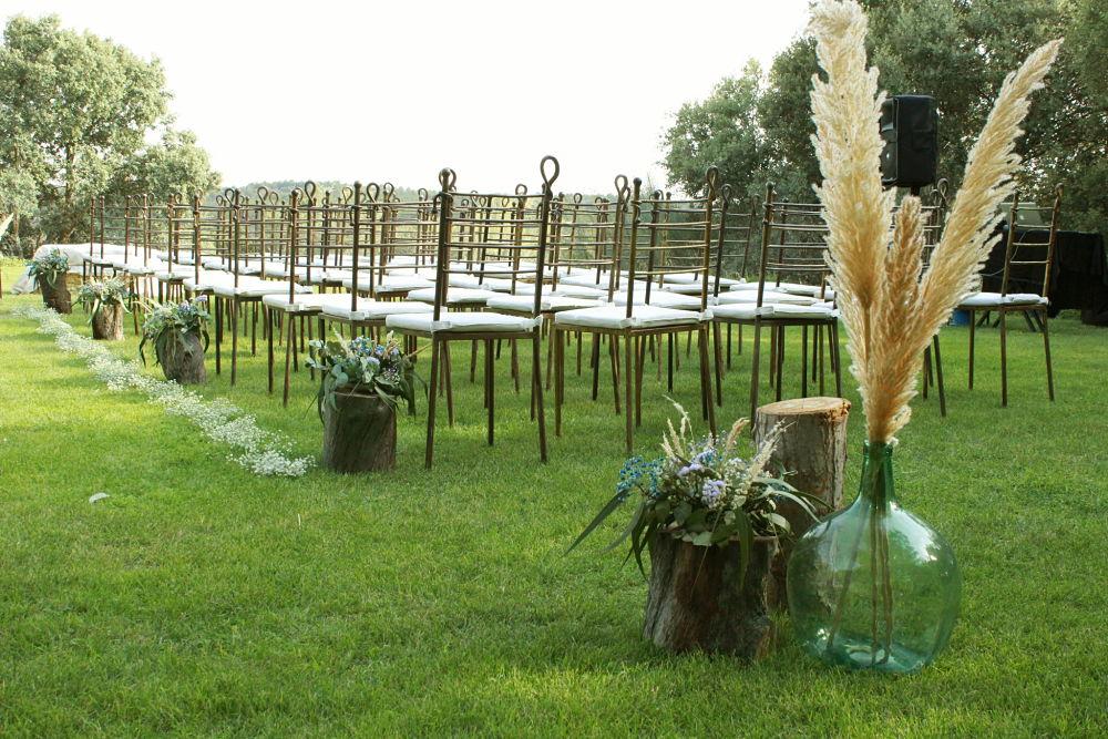 Decoración boda civil boho