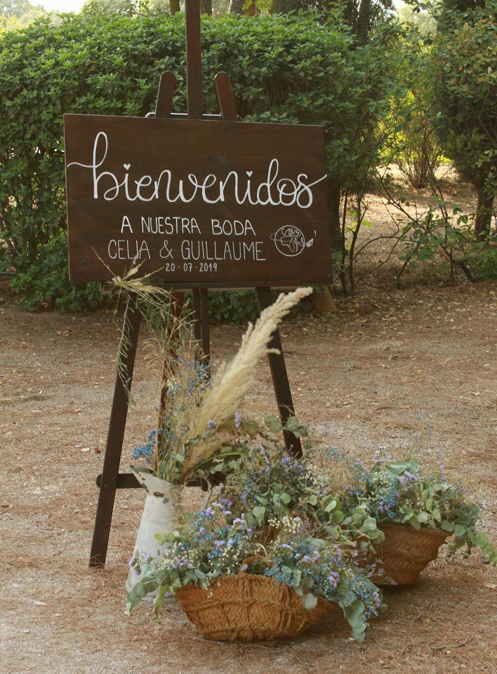 Rincón de bienvenida boda